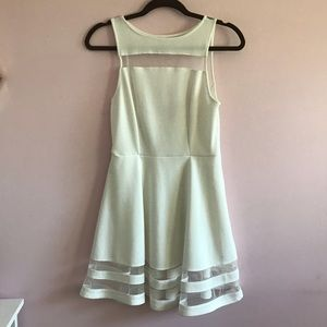 White semi-formal dress